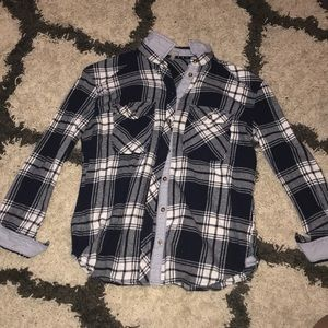 Charlotte Russe flannel button-up